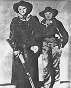 Portrait of Two Outlaw Ladies - Most probably Photoshopped - No pictures of Cattle Annie & Little Britches exist